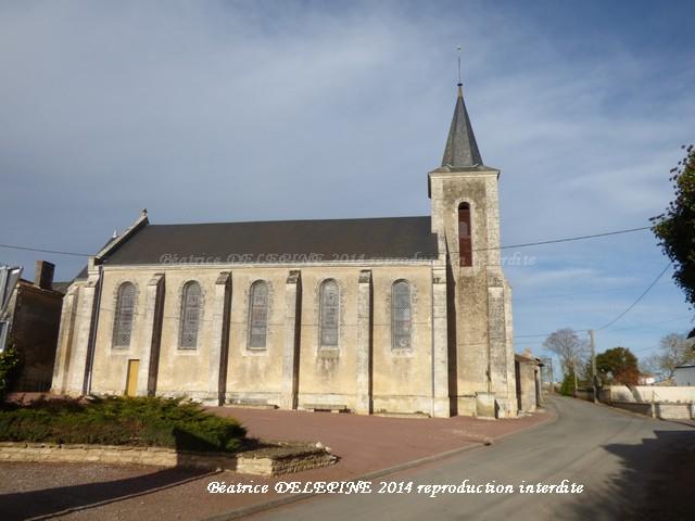 Église d'Amberre près de Mirebeau