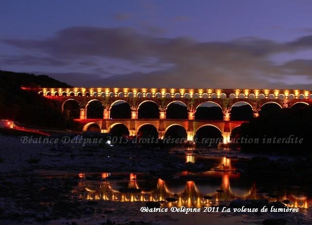 Pont du Gard le 15 août 2011