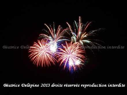 feu d'artifice Saint Clair du Rhône 13/07/2013