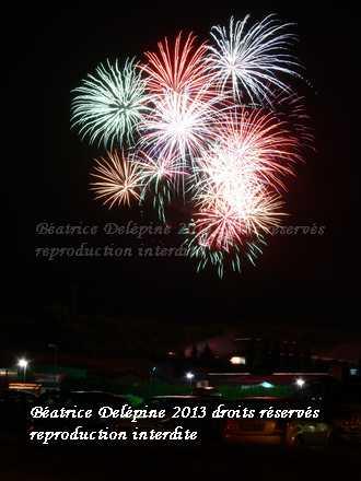 feu d'artifice Saint Clair du Rhône 13/07/201